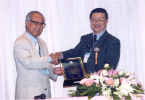 PP Dr. Chua Tia-Eng was awarded AFS Honorary Life Membership Award by AFS President, Dr. I Chiu Liao, at the 6th AFAF