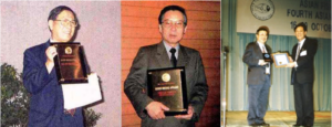 1998 Asian Fisheries Society Gold Awardees, Dr. Liu His-Chiang (L) and Prof. Akio Kanazawa (R).