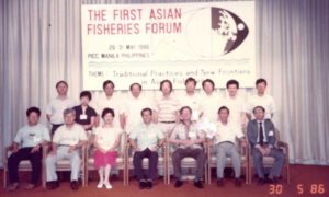 A snap from 1st Asian Fisheries Forum held in  Phillipines.