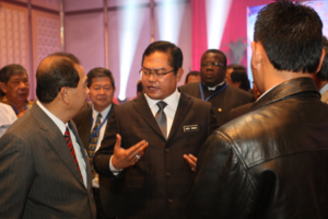 Minister at Trade Exhibition opening with other VIPs – 1
