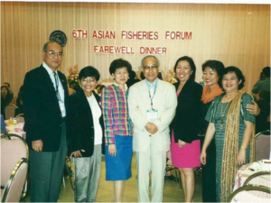 L – R: Dr Efren Flores, Mrs and Dr IC Liao, Ida Siasson and others at 6AFAF dinner
