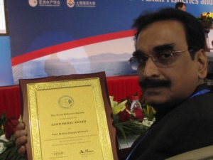 Prof. Mohan Joseph Modayil with Gold medal Award