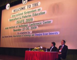 ISAFE1 – Opening CeremonyL-R: Profs Ida Siasson. President AFS & Pan YingJie, President, Shanghai Ocean University