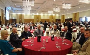 L to R: AFS PPs Drs Liao & Liu, Drs Shiau& Kim and PP Dr Lee at the forum dinner