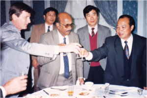 L to R: Barney Smith, Dr H.P.C. Shetty & Hon Mr Liu Cheng Gue, Vice-Minister of Agriculture, China