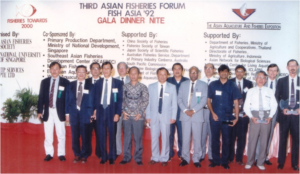 Forum Dinner – Introduction of Dr Liu Hsi-Chiang (4th from left) the 4th AFS President