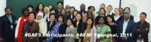 2011 GAF3 @ 9AFAF Participants Shanghai