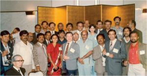 Indian AFS members with President Dr Chua Thia-Eng